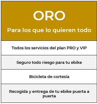 Plan renting ebike ORO